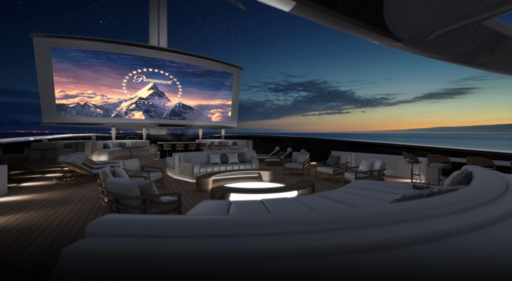 Yacht Intelligence Designs On-Deck Cinema for 88m Lotus